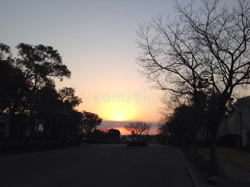 Sunset201407_01 fotografia de stock royalty free