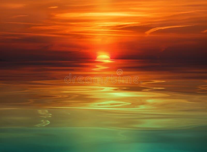 Download Sunset stock photo. Image of scenics, horizontal, sunlight - 4832638