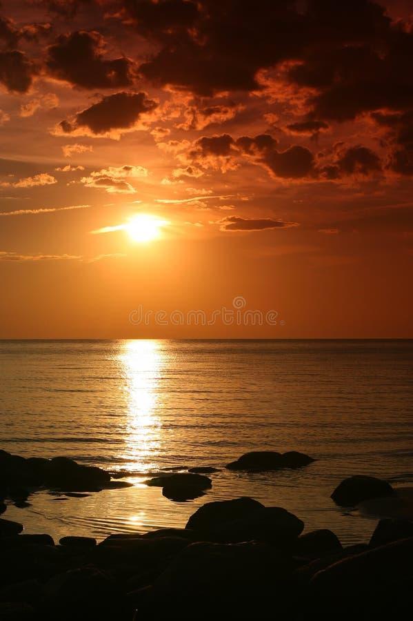 Download Sunset stock photo. Image of reflection, horizon, nobody - 532702