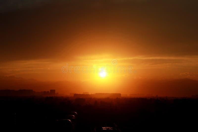Sunset-1 arkivfoton