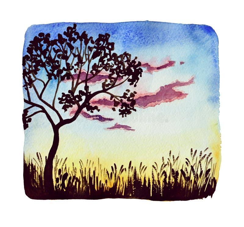 Sunset-1 ilustração do vetor