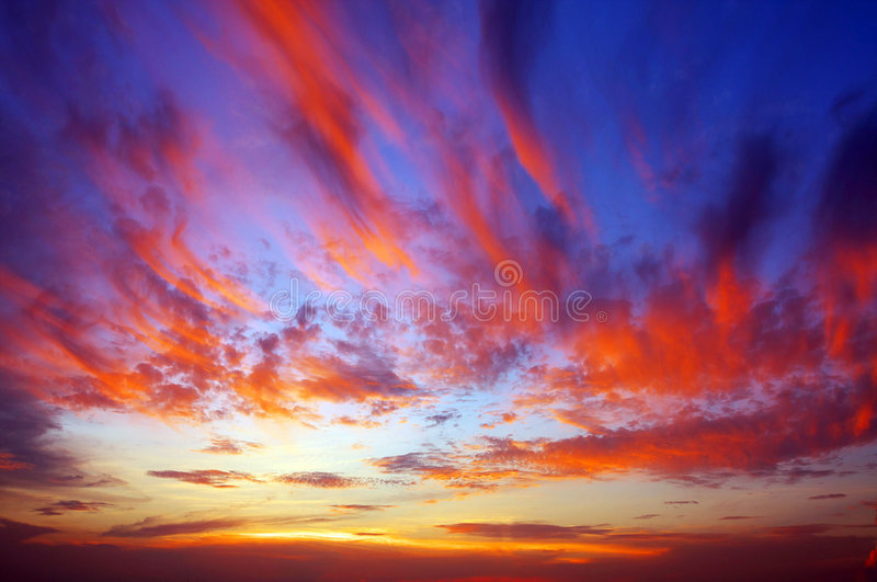 Sunset. It is very beautiful at sunset royalty free stock photo