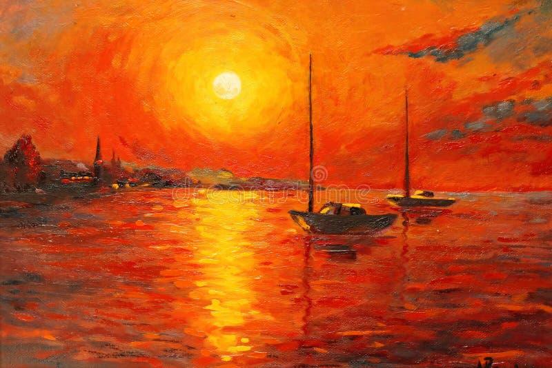 Sunset royalty free illustration