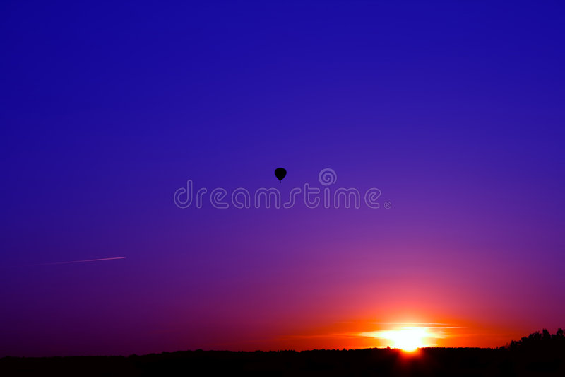 Download Sunset stock image. Image of nature, aircraft, line, silhouette - 8909057
