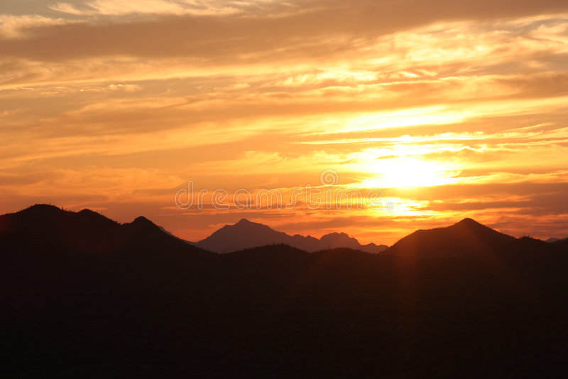 Download Sunset stock photo. Image of tree, cloud, range, saguaro - 952832