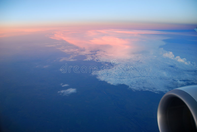 Sunset From Above stock images