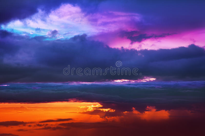 Download Sunset above the clouds stock photo. Image of color, fluffy - 18227762