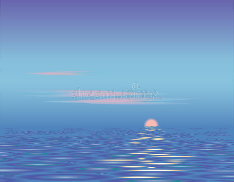 Download Sunset above the sea stock vector. Illustration of waves - 12036903