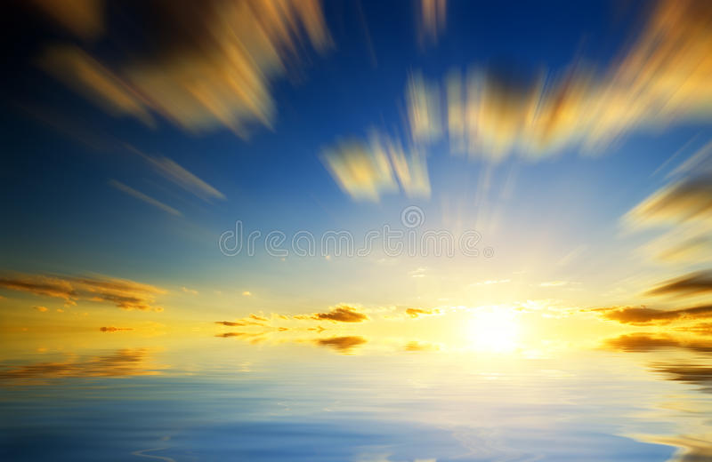 Sunset Above The Sea. Royalty Free Stock Photography