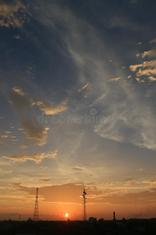 Sunset in Aceh, Indonesia royalty free stock photography