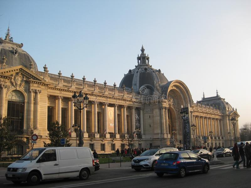 A sunset afternoon view of the Petit Palais, Paris royalty free stock image