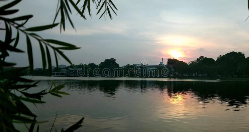 Sunset afternoon royalty free stock photos