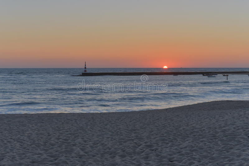 Sunset in Aguda. royalty free stock images