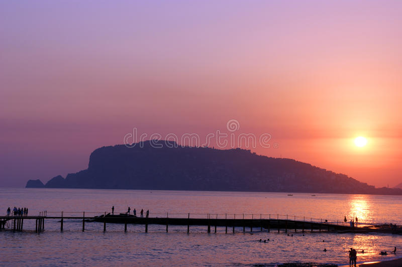 Download Sunset in Alanya stock image. Image of ecstasy, peace - 18467539