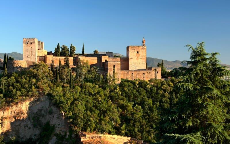 sunset alhambra obrazy royalty free