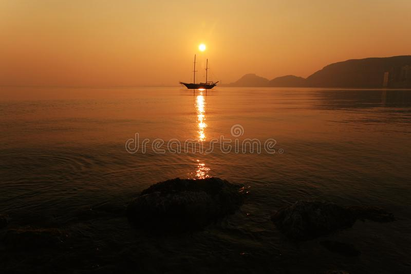 Download Sunset in Alicante Bay stock image. Image of ocean, passengers - 18326761