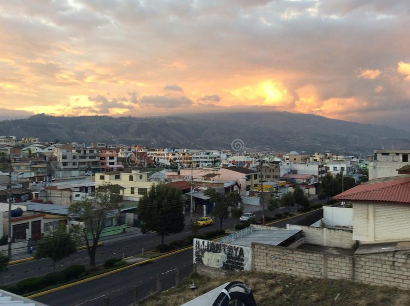 Sunset in Ambato II royalty free stock images