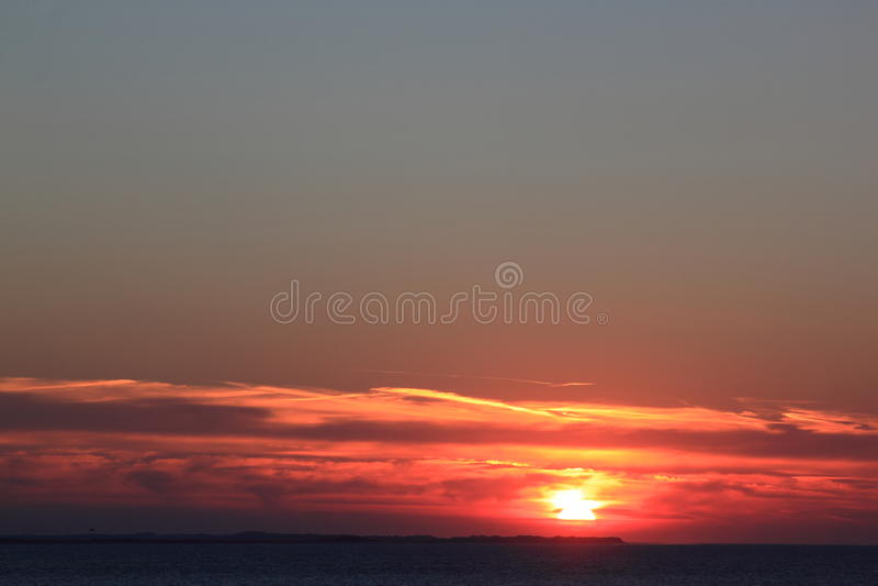 Sunset at Ameland Island, the Netherlands stock photo