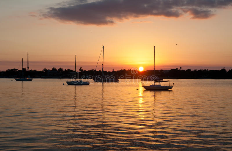 Download Sunset Anchorage stock image. Image of anchored, evening - 34428745