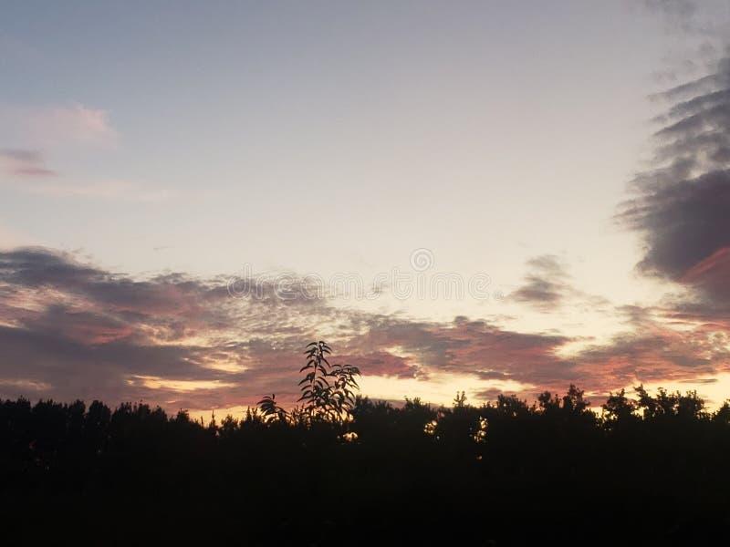 Sunset in Antrim royalty free stock image