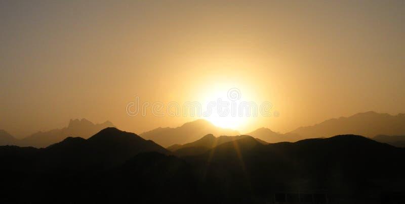 Sunset in Arabian desert, Africa royalty free stock images