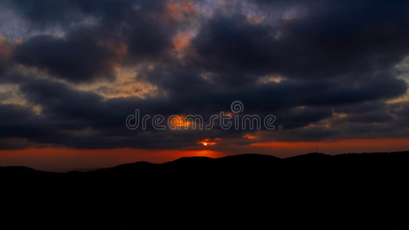 Sunset from the Arthur Rubinstein Memorial royalty free stock photography