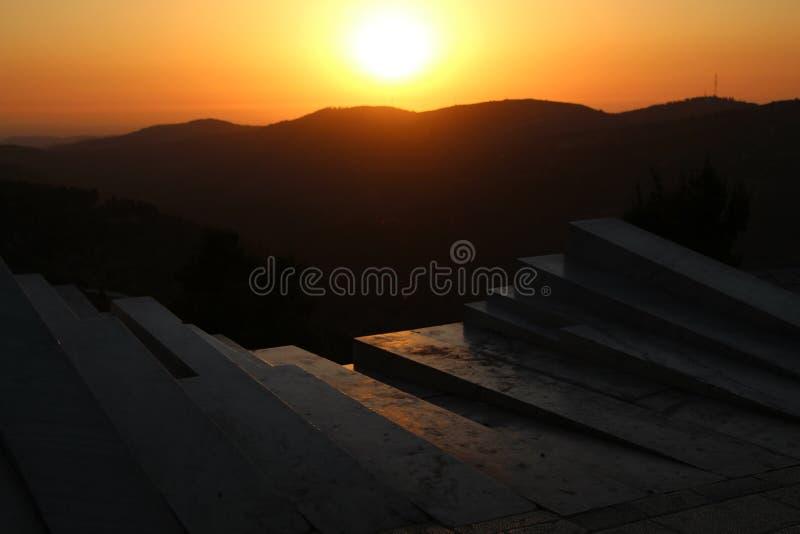 Sunset from the Arthur Rubinstein Memorial stock image
