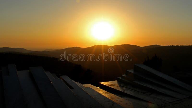Sunset from the Arthur Rubinstein Memorial stock images