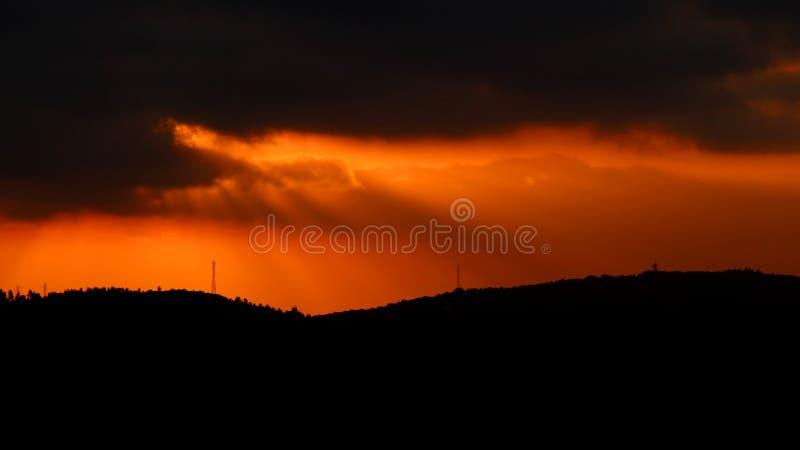 Sunset from the Arthur Rubinstein Memorial royalty free stock photo