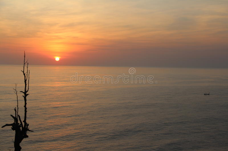 Sunset in Asia royalty free stock photography