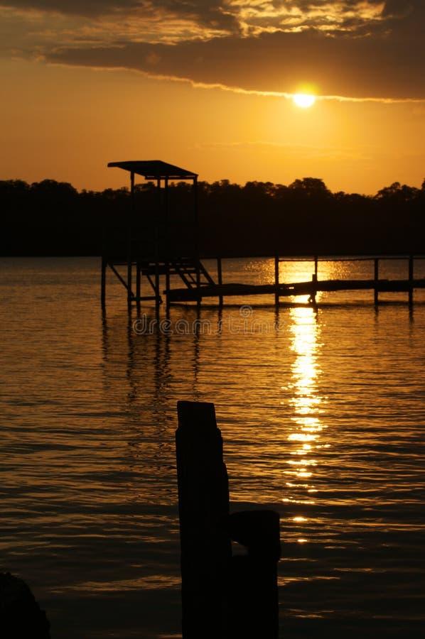 Free Sunset At Belait River Stock Image - 13479311