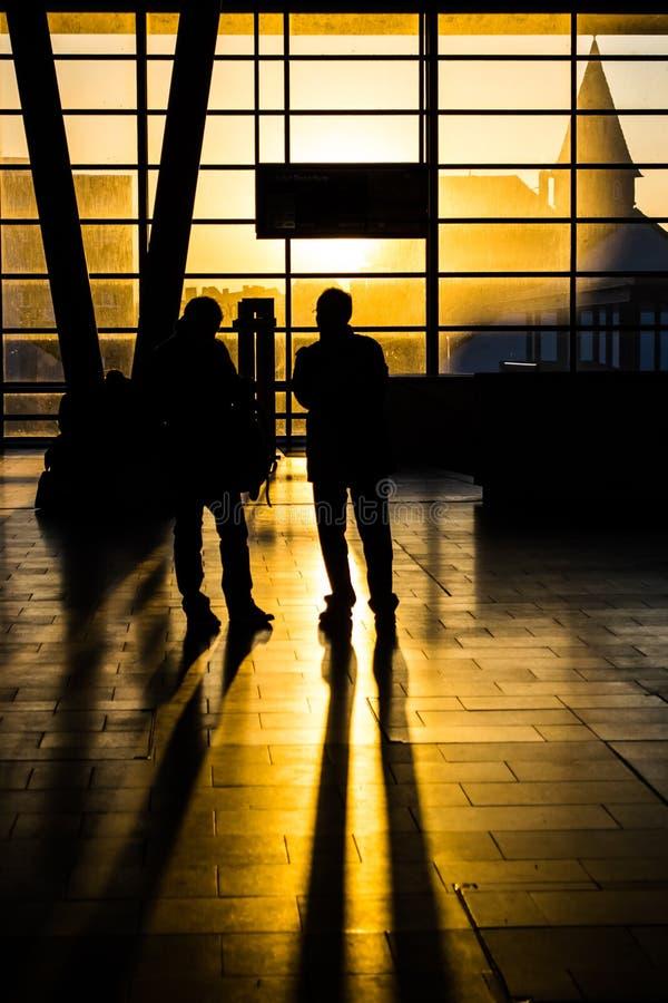 Free Sunset At Trainstation Royalty Free Stock Photo - 38336125