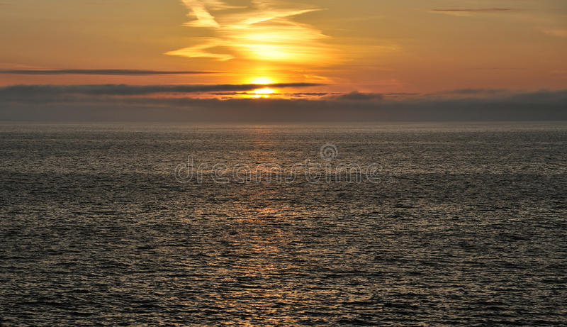 Sunset On The Atlantic Stock Photos