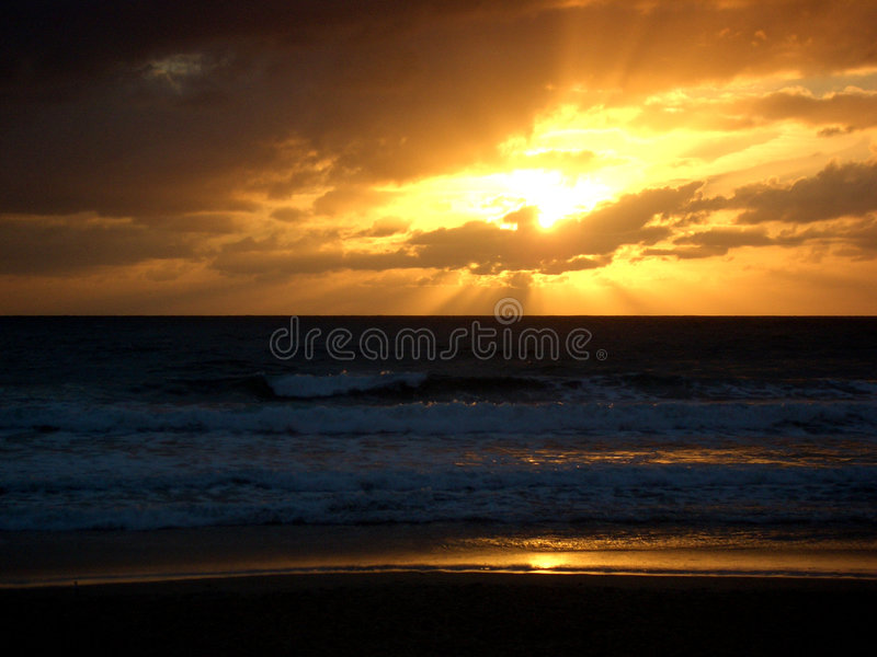Sunset Atlantic Ocean stock photography