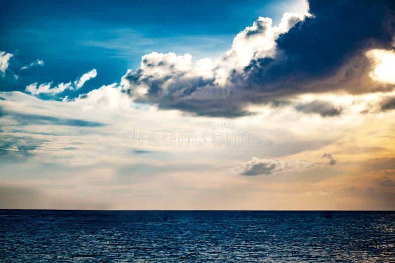 Sunset and atlantic ocean stock photos