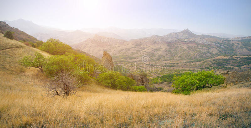 Download Sunset And Autumn Mountain Stock Image - Image: 21122811
