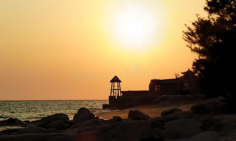 Sunset in Ba ria royalty free stock images