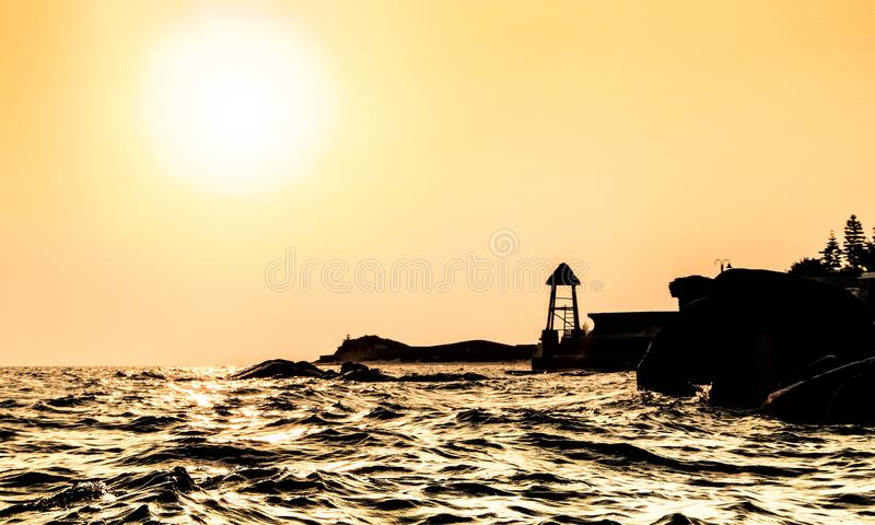 Sunset in Ba ria stock images