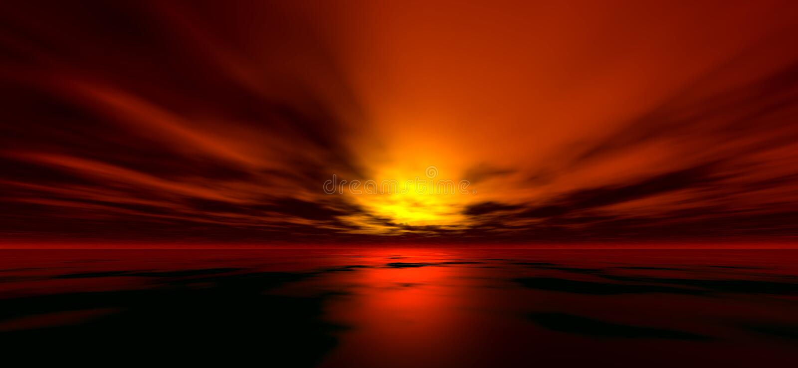 Sunset background 4 royalty free illustration