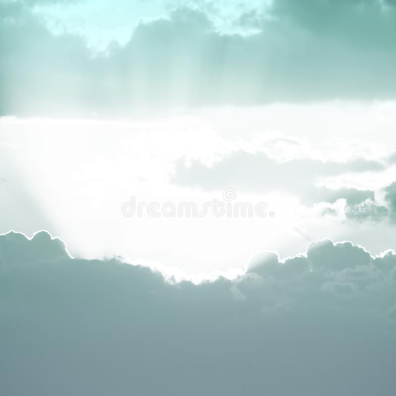 Sunset background. sky with soft and blur pastel colored clouds. gradient cloud on the beach resort. nature. sunrise.  peaceful. Morning. Instagram toned style royalty free stock photo