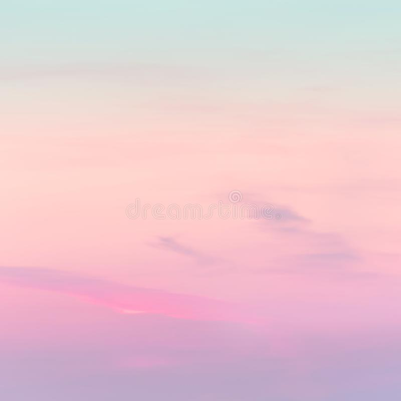 Sunset background. sky with soft and blur pastel colored clouds. gradient cloud on the beach resort. nature. sunrise.  peaceful. Morning. Instagram toned style stock photos