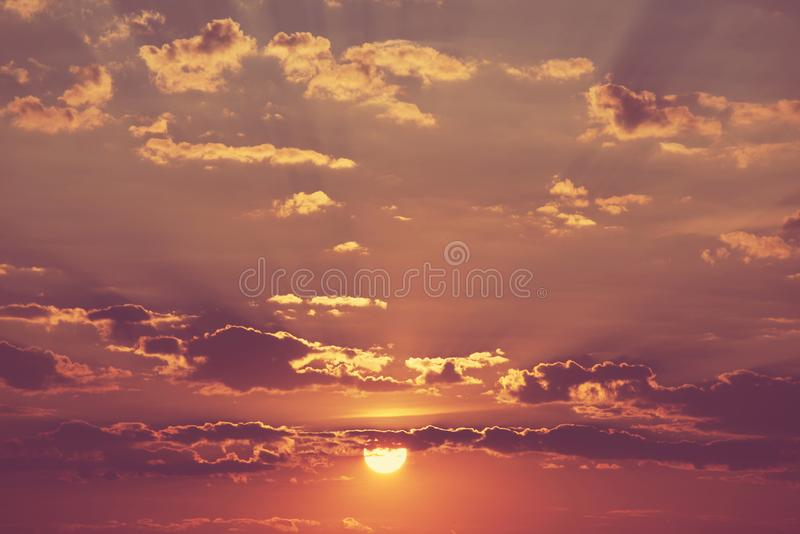 Sunset background stock photography
