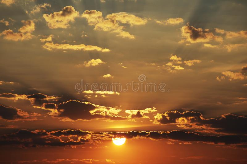 Sunset background royalty free stock photos