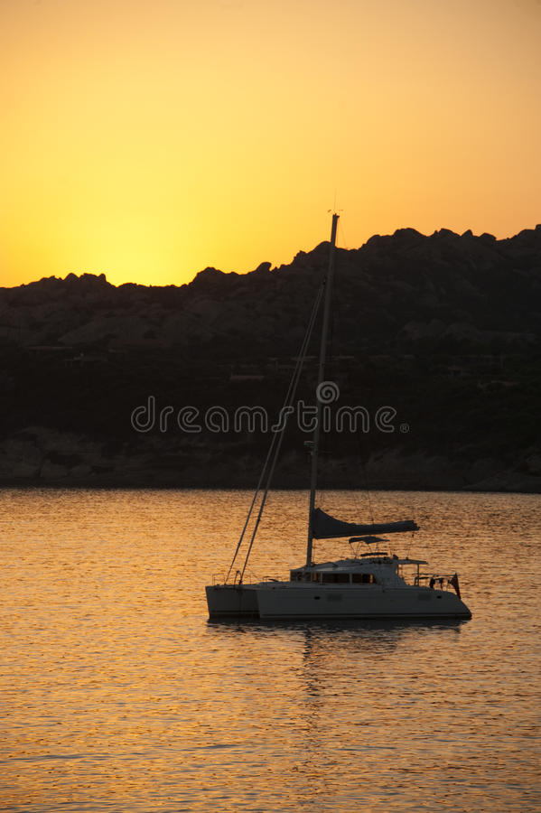 Download Sunset On Baia Santa Reparata Stock Image - Image: 32550843