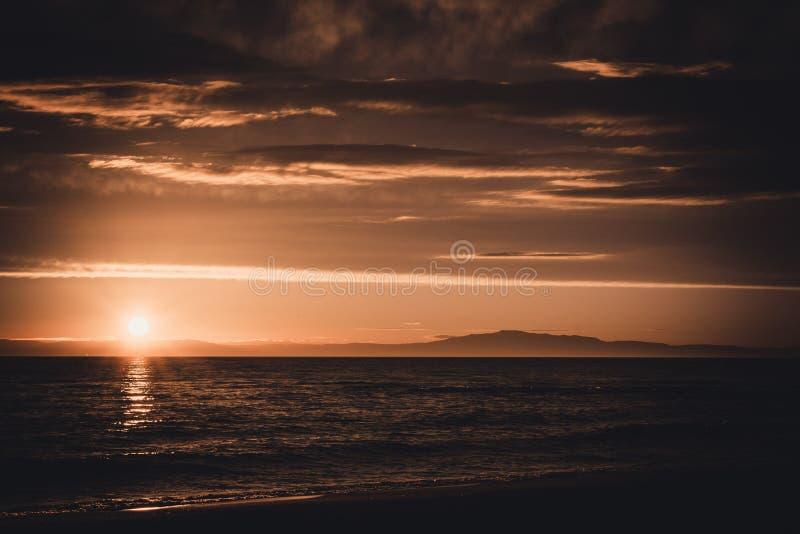 Sunset on Baikal royalty free stock photography