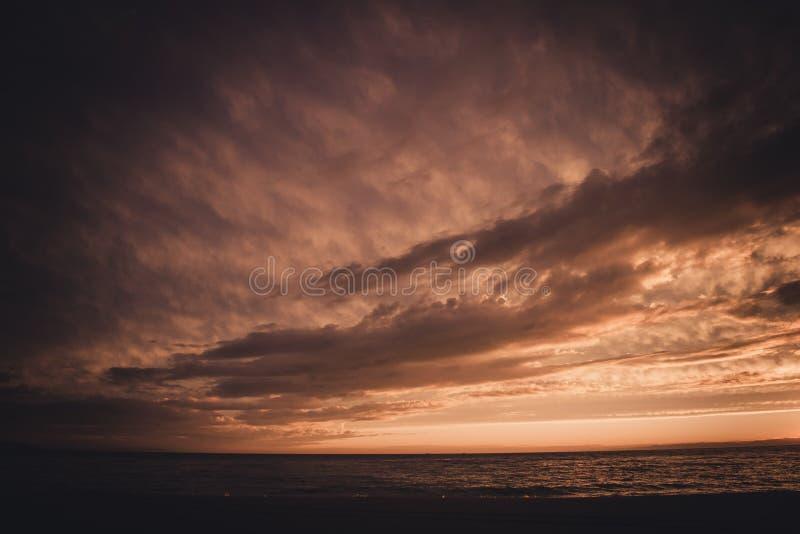 Sunset on Baikal royalty free stock image