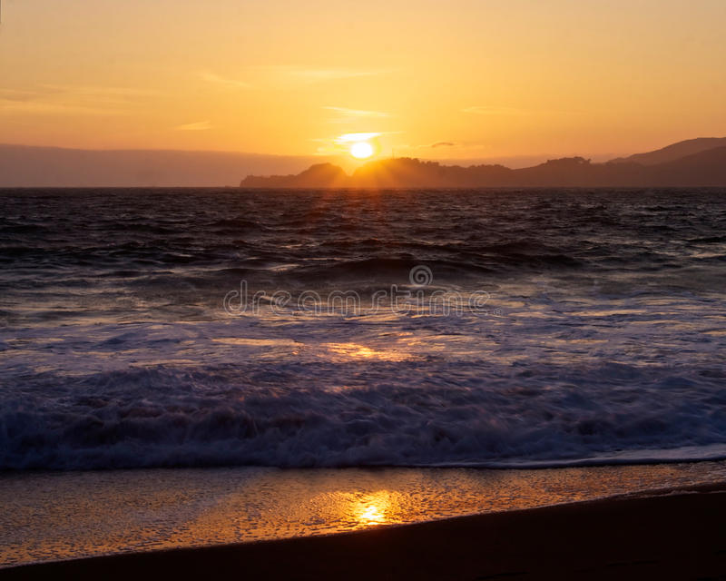 Download Sunset from Baker Beach stock photo. Image of purple - 20199766