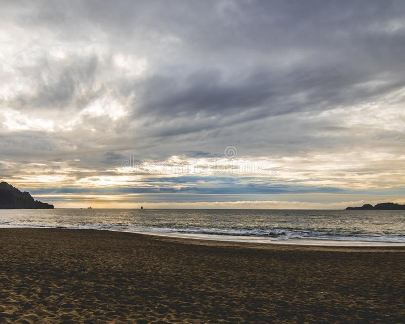 Sunset at Baker beach in San Francisco royalty free stock photos