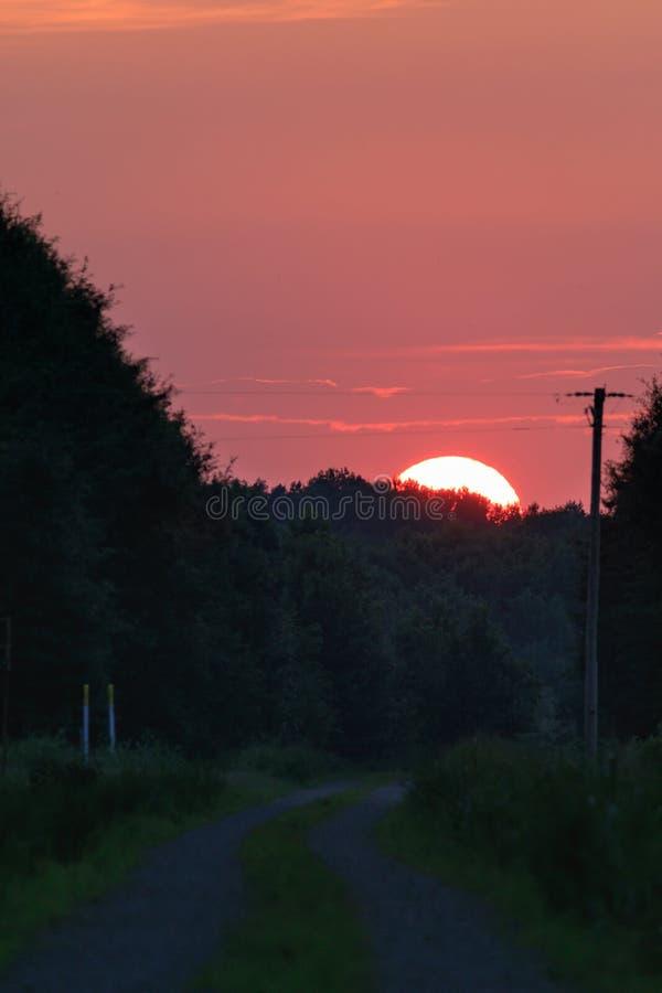 Sunset at the Bald Knob Wildlife Refuge in Bald Knob. Arkansas stock image