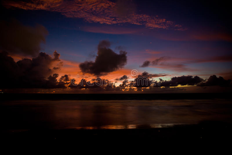 Sunset in Bali, Indonesia. stock images